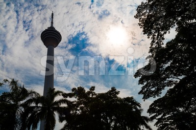 KUALA LUMPUR,  MALAYSIA, SEPTEMBER 16, 2017: KL Tower is the seventh-tallest tower in the world by pinnacle height at 421 m (1,381 ft). Popular Stock Photo