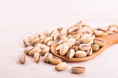 Pistachios rich in anti-oxidants good for health, keeps healthy heart. Stock Photo