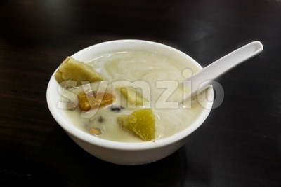 Bubur Cha cha is popular nyonya dessert among Malaysian food Stock Photo
