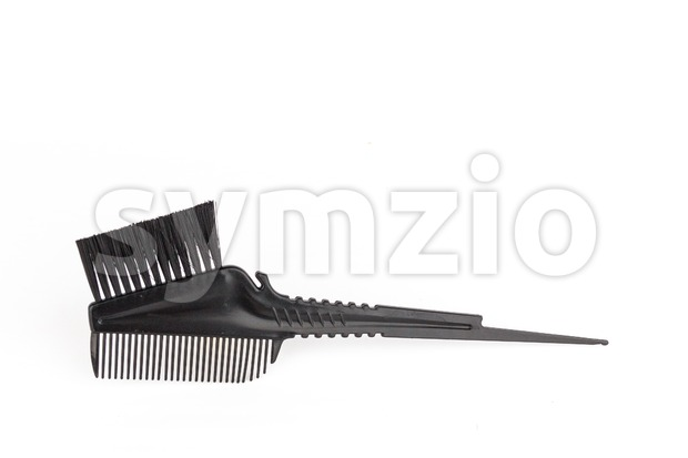 Comb brush for hair dying Stock Photo