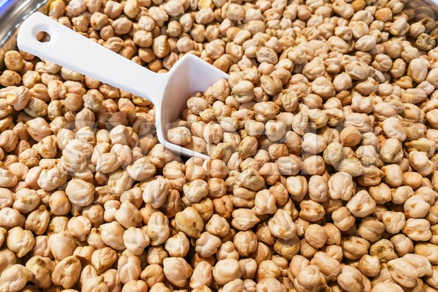 Closeup of chickpeas or also known as kacang kuda Stock Photo