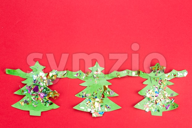 Christmas background with cute fir tree artwork