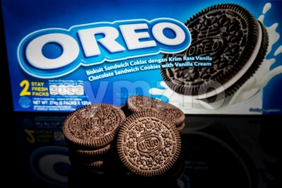 KUALA LUMPUR, FEBRUARY 25, 2016: Oreo is a brand of Mondelez International and its creme-filled sandwich cookie is a favorite among consumers in Stock Photo