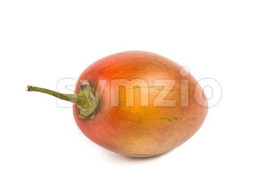 Fresh tamarillo fruits also known as tomato with white background Stock Photo