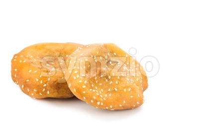 Fried bread bun, or known as Ham Chim Peng, popular food in Malaysia and Singapore. Stock Photo
