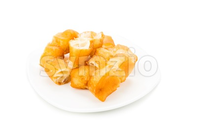 Fried bread stick or popularly known as You Tiao, a popular Chinese cuisine. Stock Photo